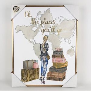 CKD Oh The Places You'll Go Printed Canvas Art